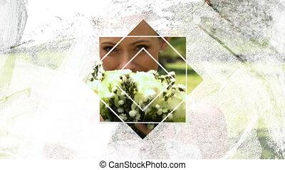 étoile, premier plan, blanc, par, mariés, juste, formé, ...