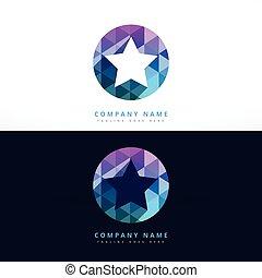 étoile, résumé, illustration, conception, gabarit, logo