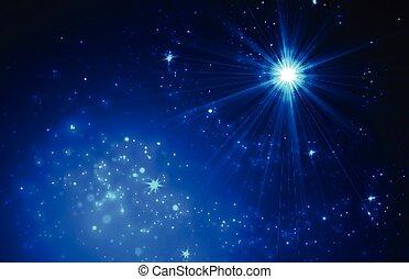 étoile, résumé, scintillement, trail., fond, tomber