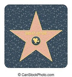 étoile, renommée, promenade
