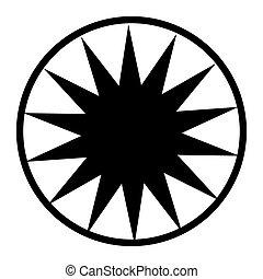 étoile, retro, élément