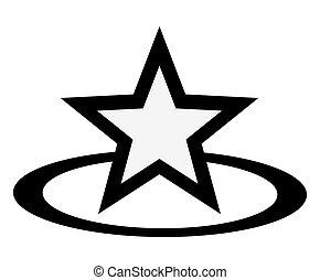 étoile, retro, récompense