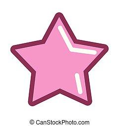 étoile rose, icône