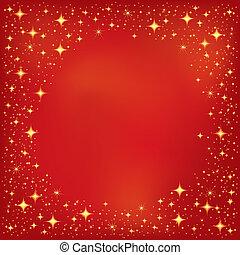 étoile rouge, fond