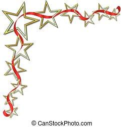 étoile, ruban, fond
