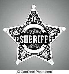 étoile, shérif