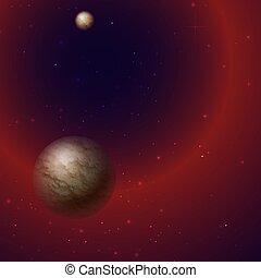 étoile, space., planète, manière, laiteux, extérieur