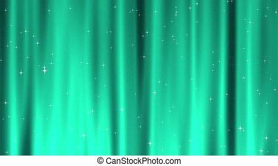 étoile, tapisserie, sarcelle, boucle