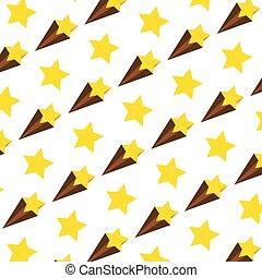 étoile, tir, art, fond, gentil