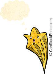 étoile, tir, caractère, dessin animé