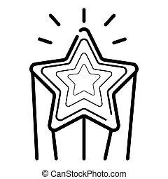 étoile, tir, icône