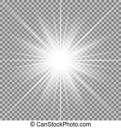 étoile, transparent, fond, briller