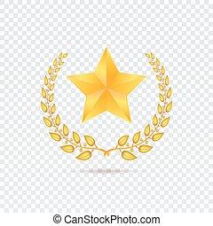 étoile, transparent, fond