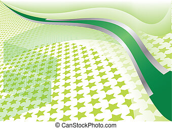 étoile, vecteur, arrière-plan vert
