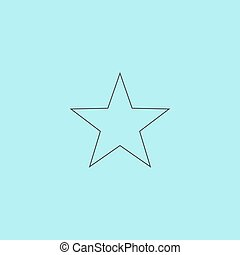 étoile, vecteur, -, clasic, icône