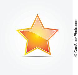étoile, vecteur, illustrateur, or