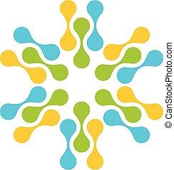 étoile, vecteur, illustration, logo, eps, 10., gabarit, design., molécule