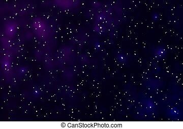 étoile, vector., espace, isolated., lumière, ciel nuit, effet, nebula., étoiles, univers, poussière, galaxie