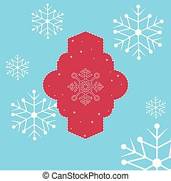 étoiles, étiquette, décoration, fond, snowflake blanc