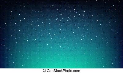 étoiles, ciel, cosmos, étoilé, nuit, bleu, briller, espace, fond