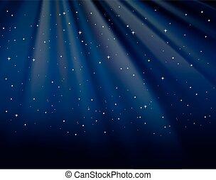 étoiles, ciel, fond, gabarit