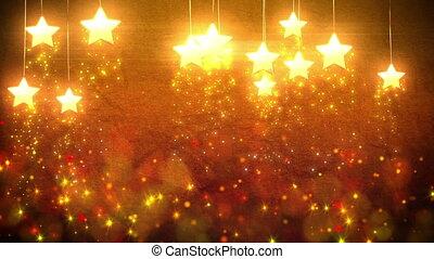 étoiles, décorations, boucle
