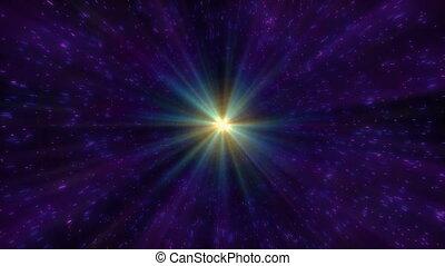 étoiles, espace, mouche, 4k