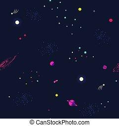 étoiles, fond, planètes, espace
