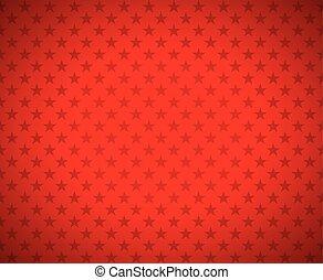 étoiles, fond, rouges