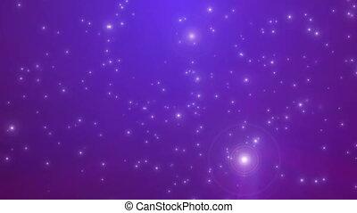étoiles, lumière, espace, mouche