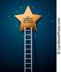 étoiles, manière, cinéma