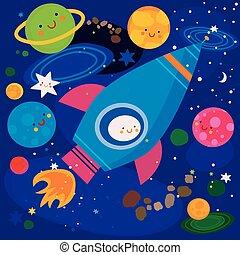 étoiles, planètes