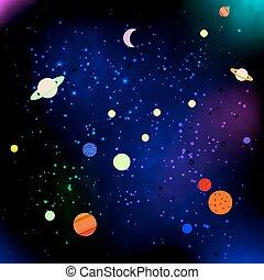 étoiles, planètes, espace