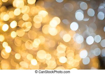 étoiles, résumé, lumières, bokeh, defocused, fond