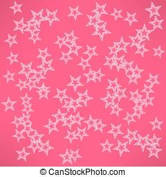 étoiles, résumé, vecteur, fond, blanc rouge