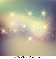 étoiles, retro, fond