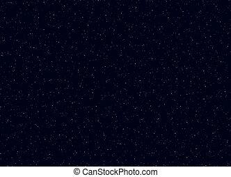 étoiles, sky., illustration espace, vecteur, fond, nuit