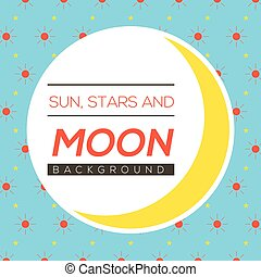 étoiles, soleil, illustration, lune, vecteur, fond