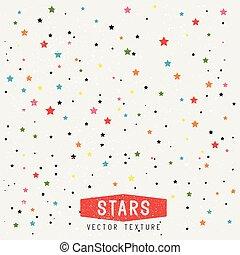 étoiles, texture, fond