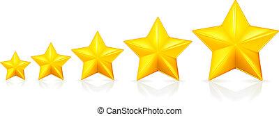 étoiles, vecteur, cinq