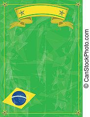 étrange, fond, brésilien