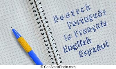étranger, apprentissage, langues