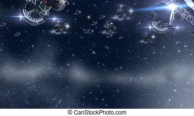 étranger, invasion, spaceships