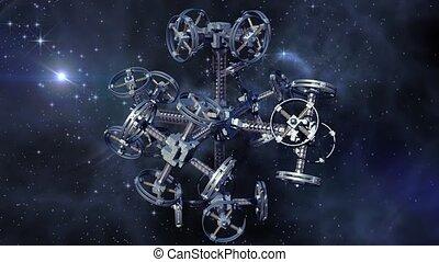 étranger, vaisseau spatial, espace