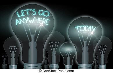 étrangers, business, photo, projection, endroits, aller, rencontrer, lets, note, anywhere., écriture, nouveau, visite, relax., showcasing, jouir de