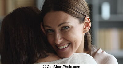 étreindre, 30s, appareil photo, maman, femme, séduisant,...