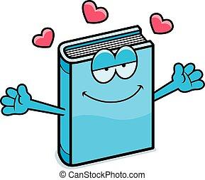 étreinte, livre, dessin animé