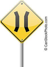 étroit, pont, signe