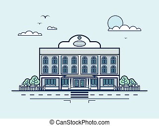 étterem, város, mód, modern, utca, építészet, egyenes