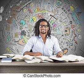 étude, idées, business, innovateur